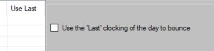 Use Last Clocking